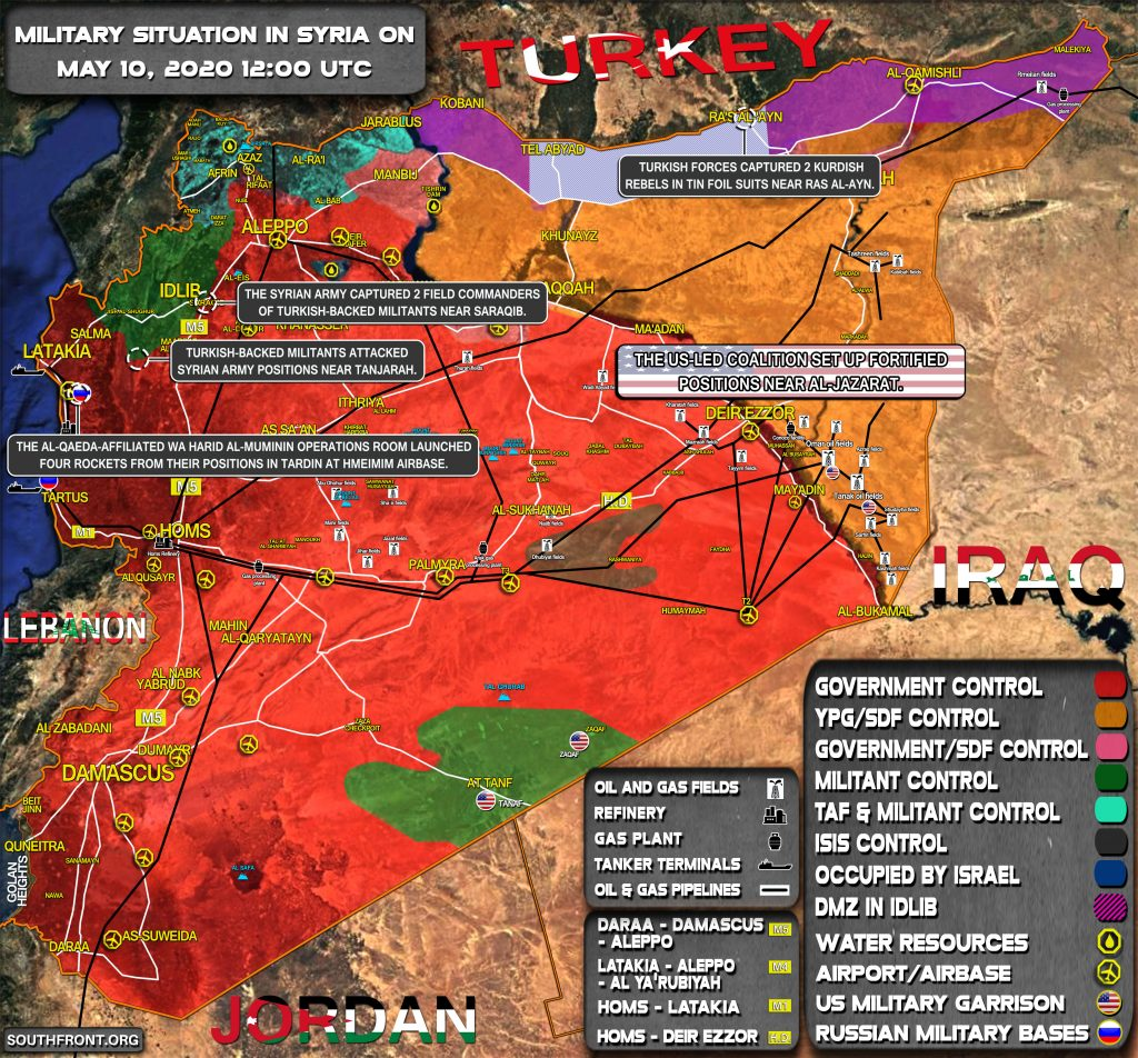 Military Situation In Syria On May 10, 2020 (Map Update)