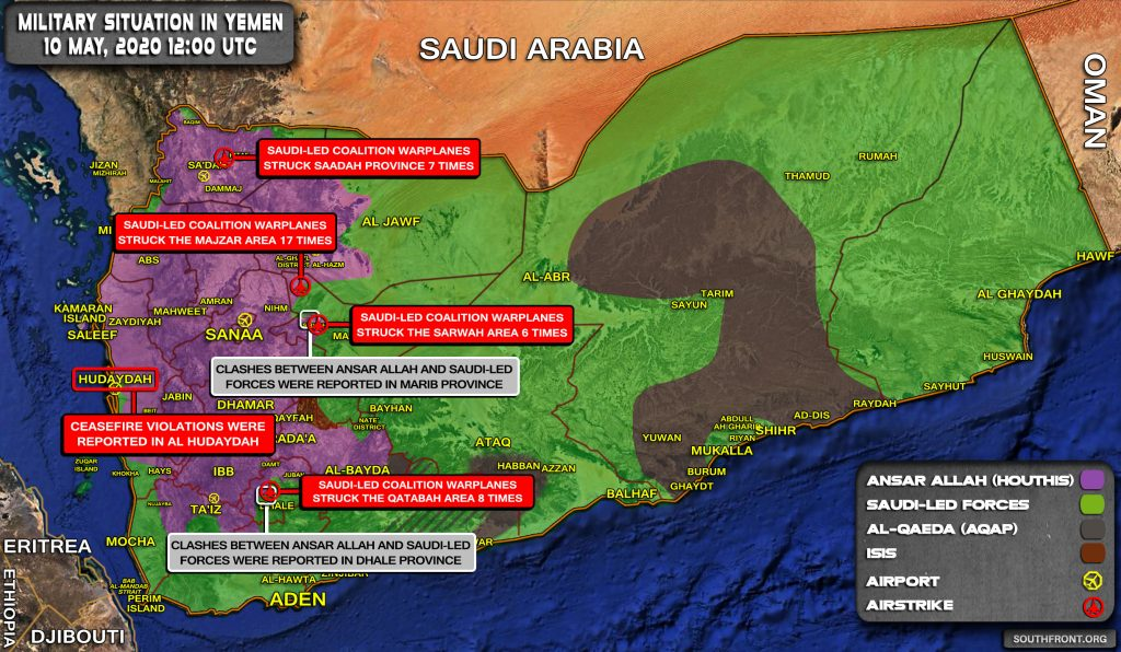 Military Situation In Yemen On May 10, 2020 (Map Update)