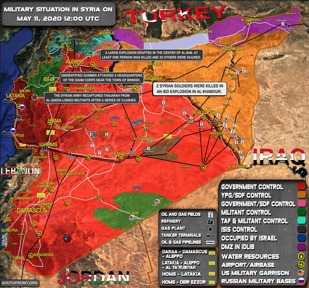 Military Situation In Syria On May 11, 2020 (Map Update)