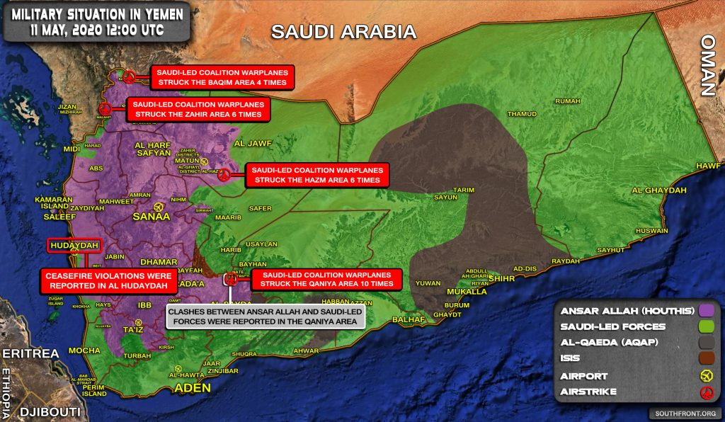 Military Situation In Yemen On May 11, 2020 (Map Update)