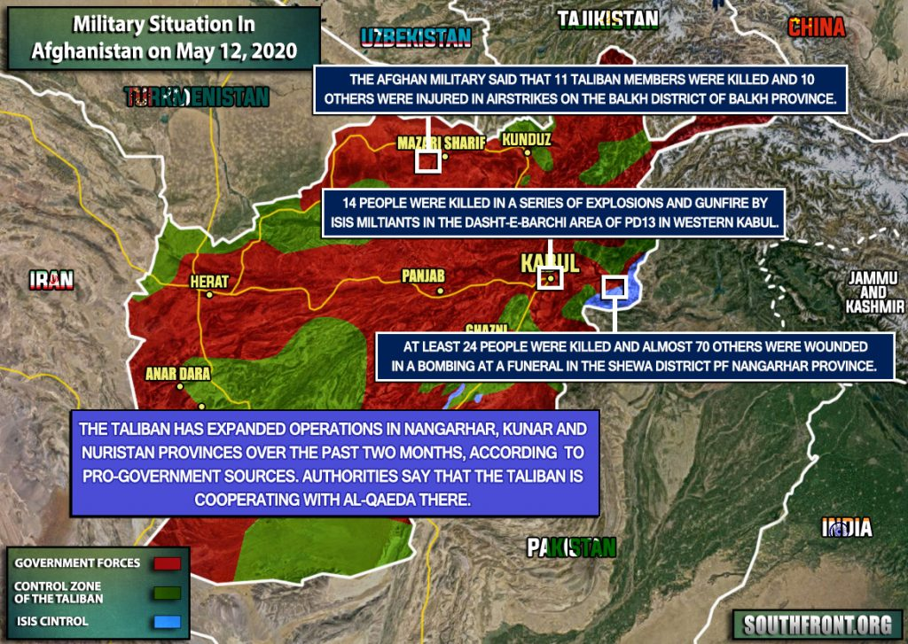 Military Situation In Afghanistan On May 12, 2020 (Map Update)