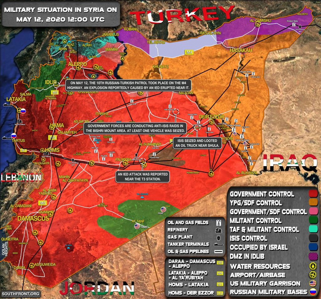Military Situation In Syria On May 12, 2020 (Map Update)
