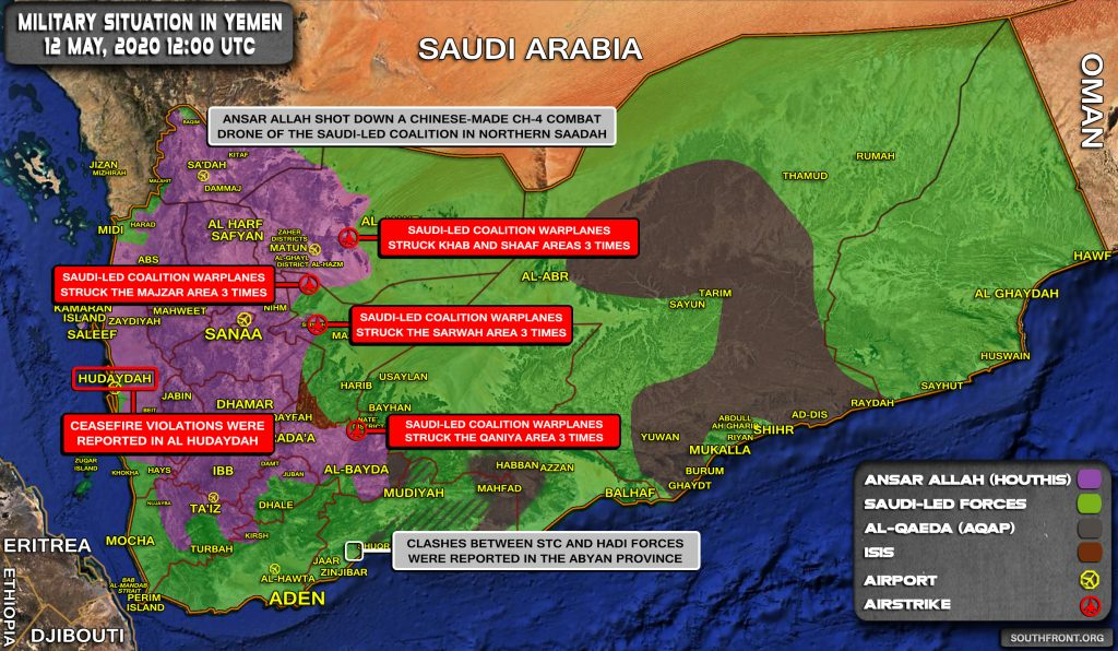 Military Situation In Yemen On May 12, 2020 (Map Update)
