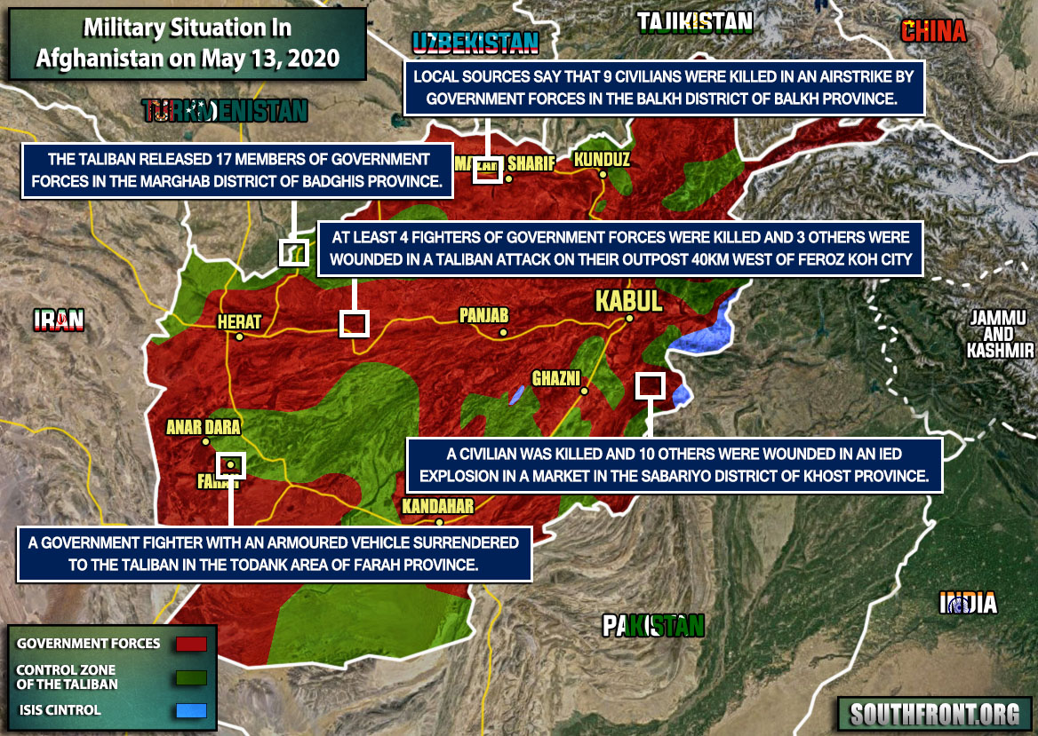 Military Situation In Afghanistan On May 13, 2020 (Map Update)