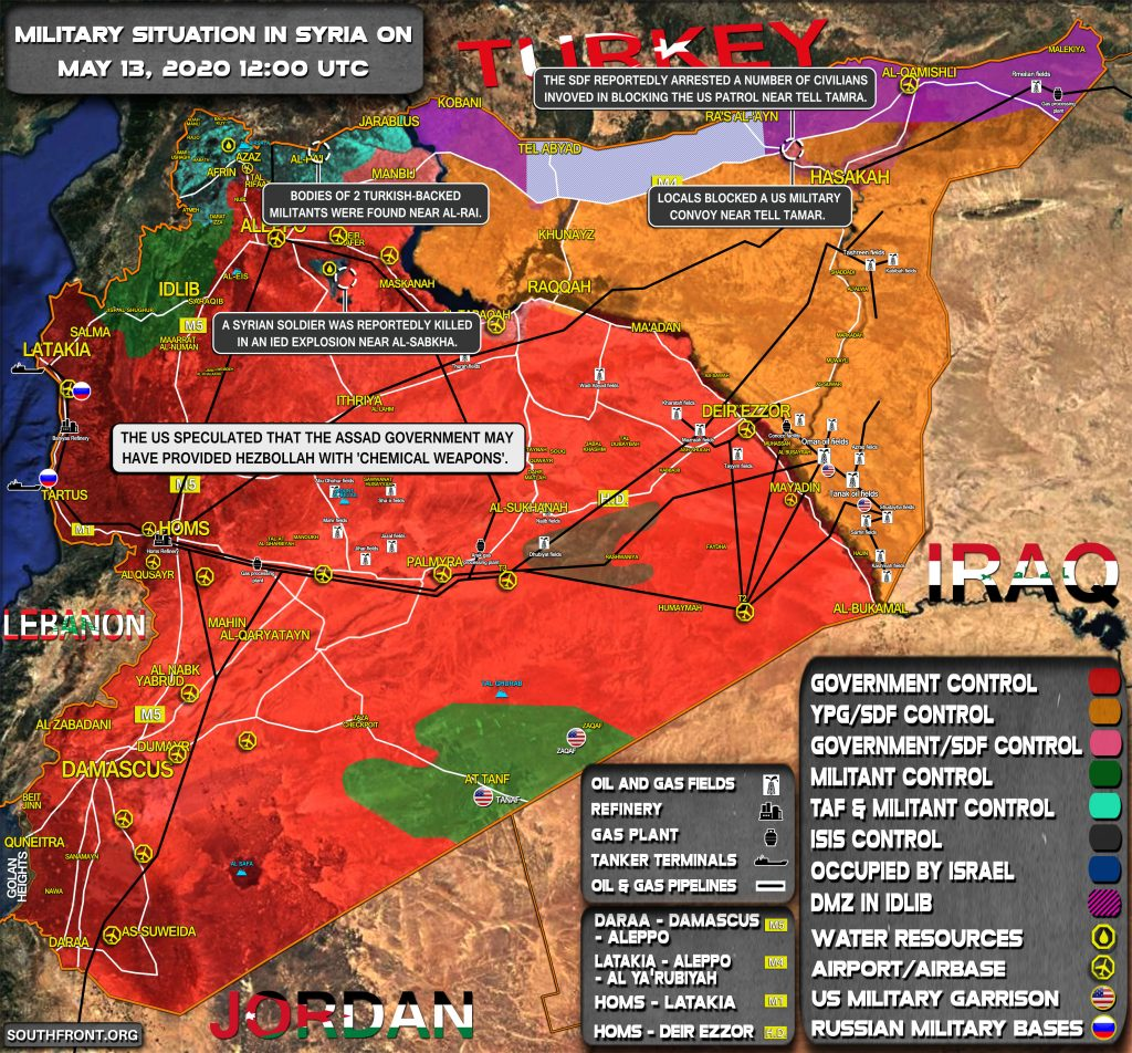 Military Situation In Syria On May 13, 2020 (Map Update)