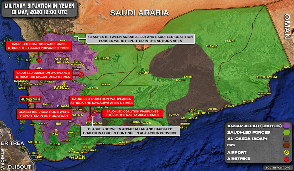 Military Situation In Yemen On May 13, 2020 (Map Update)