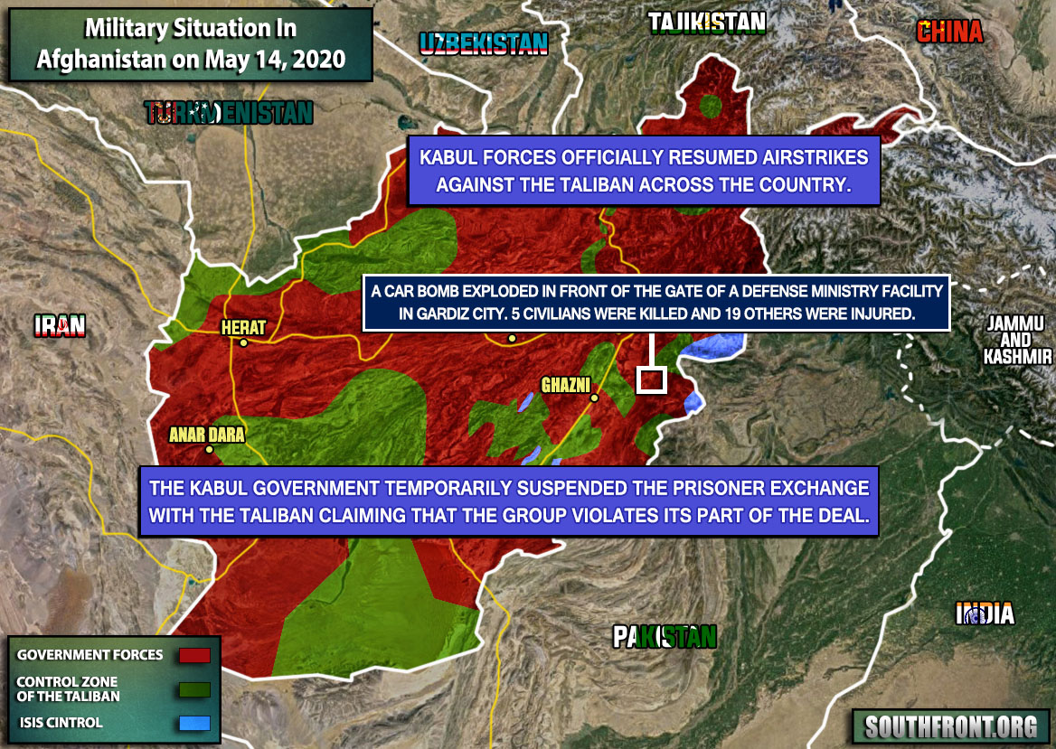 Military Situation In Afghanistan On May 14, 2020 (Map Update)