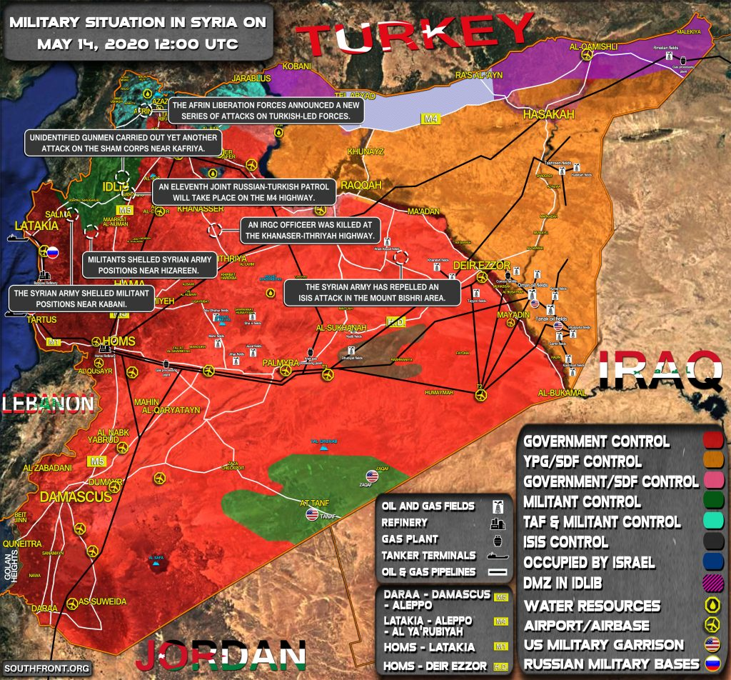 Military Situation In Syria On May 14, 2020 (Map Update)