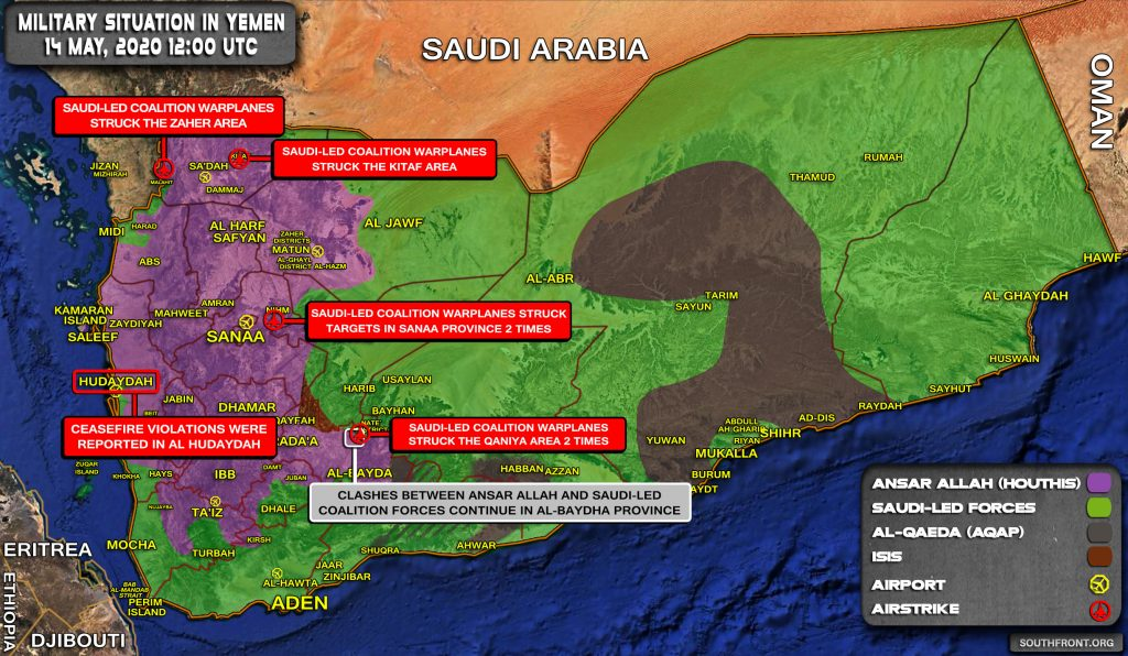 Military Situation In Yemen On May 14, 2020 (Map Update)