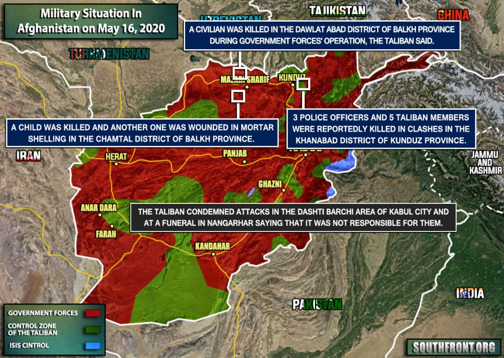 Military Situation In Afghanistan On May 16, 2020 (Map Update)