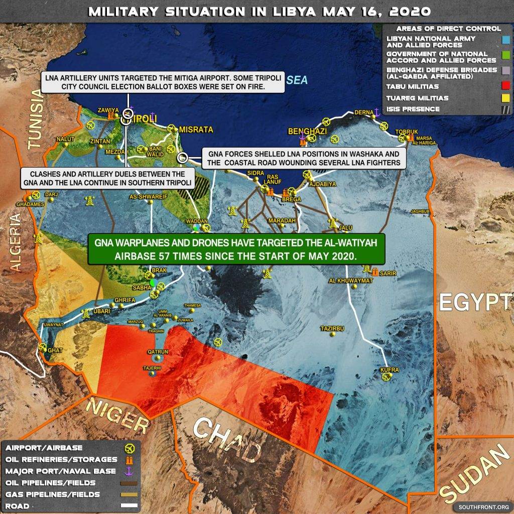Military Situation In Libya On May 16, 2020 (Map Update)