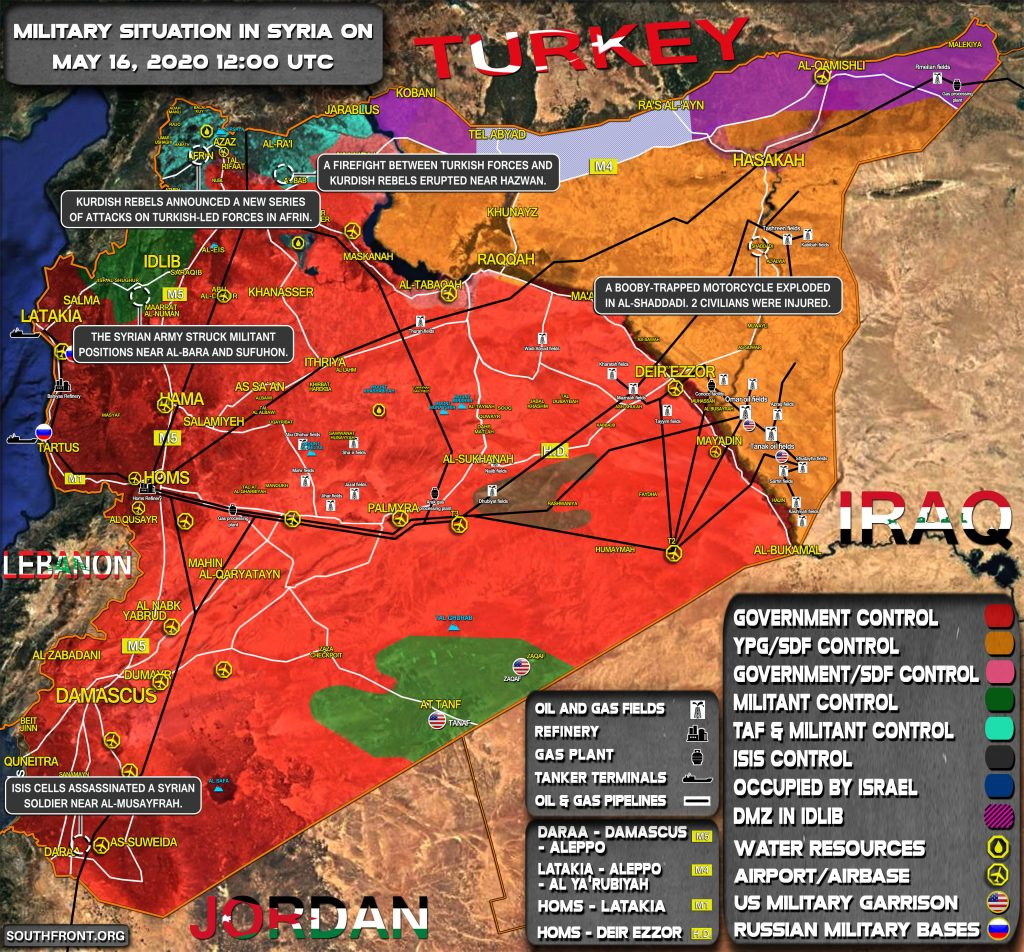 Military Situation In Syria On May 16, 2020 (Map Update)