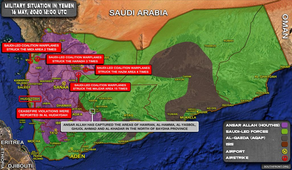 Military Situation In Yemen On May 16, 2020 (Map Update)