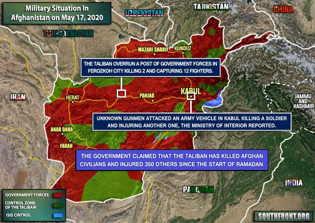 Military Situation In Afghanistan On May 17, 2020 (Map Update)