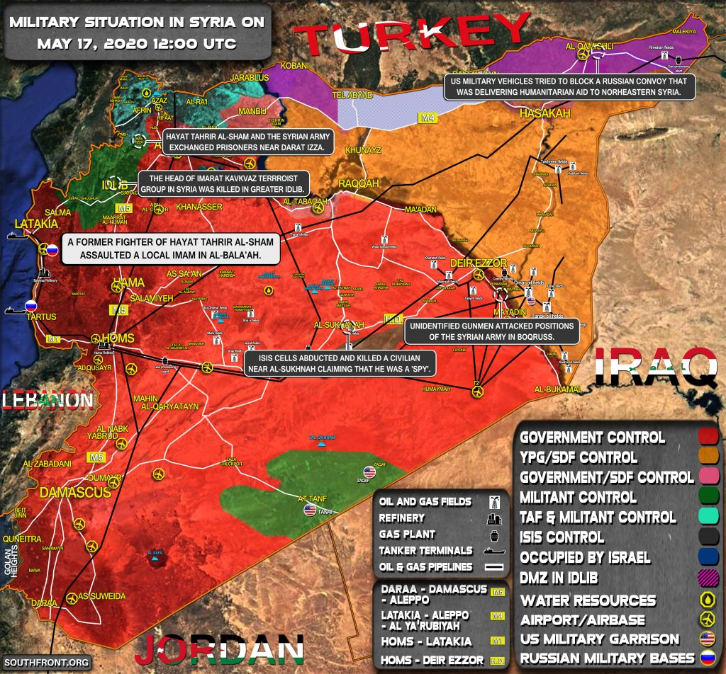 Military Situation In Syria On May 17, 2020 (Map Update)