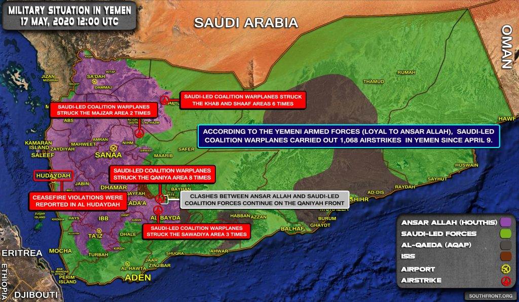 Military Situation In Yemen On May 17, 2020 (Map Update)