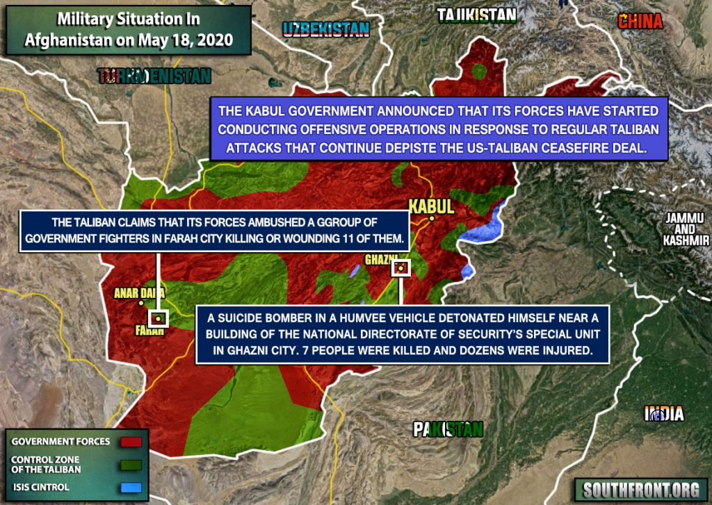 Military Situation In Afghanistan On May 18, 2020 (Map Update)