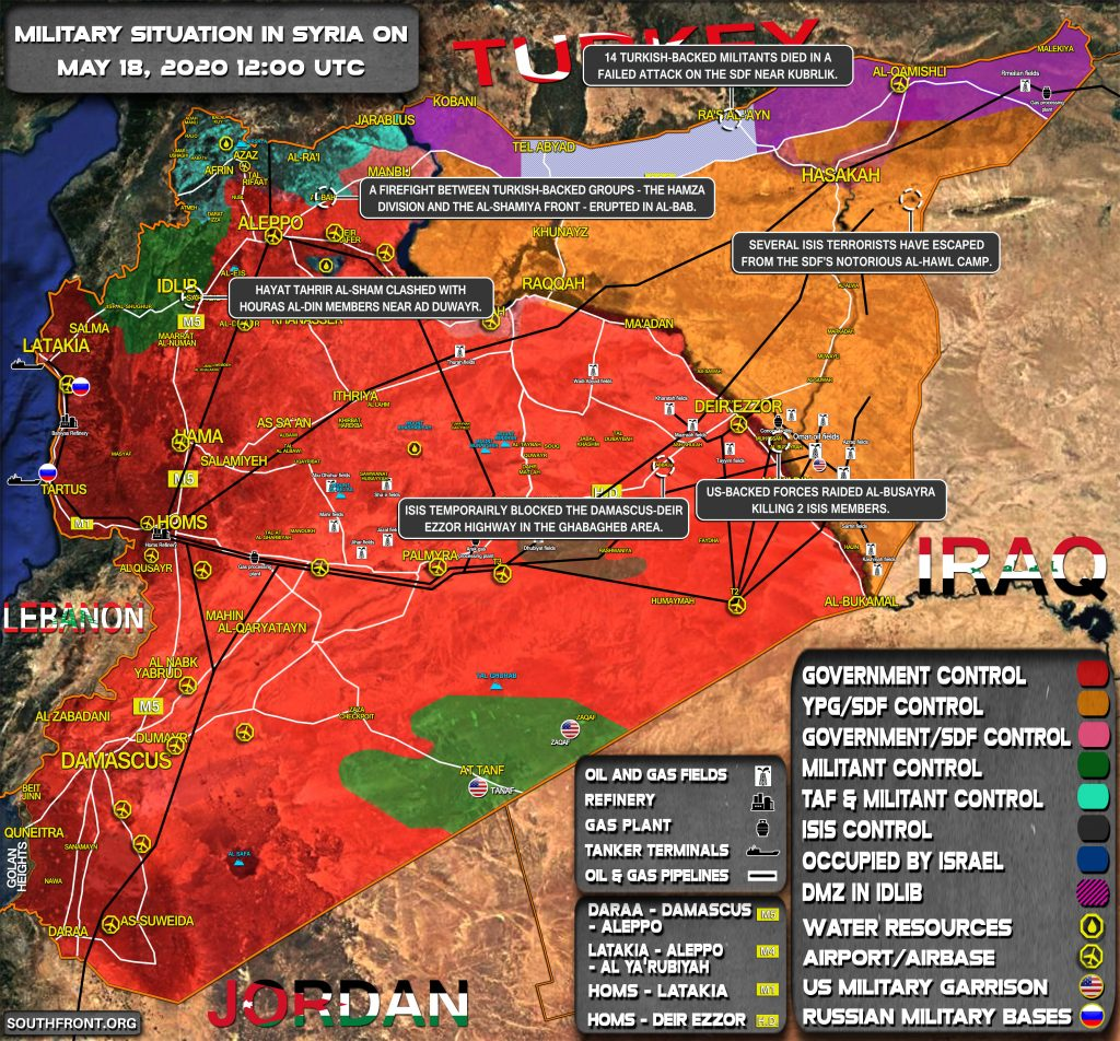 Military Situation In Syria On May 18, 2020 (Map Update)