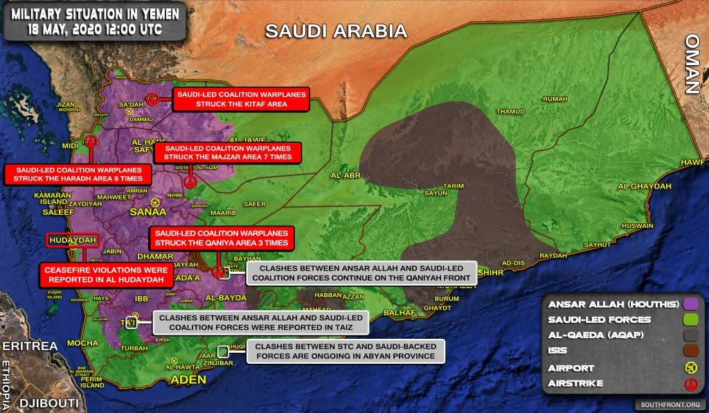 Military Situation In Yemen On May 18, 2020 (Map Update)