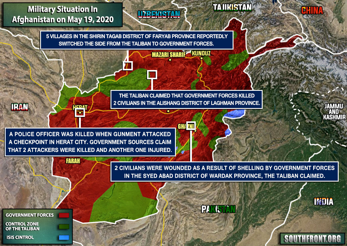 Military Situation In Afghanistan On May 19, 2020 (Map Update)