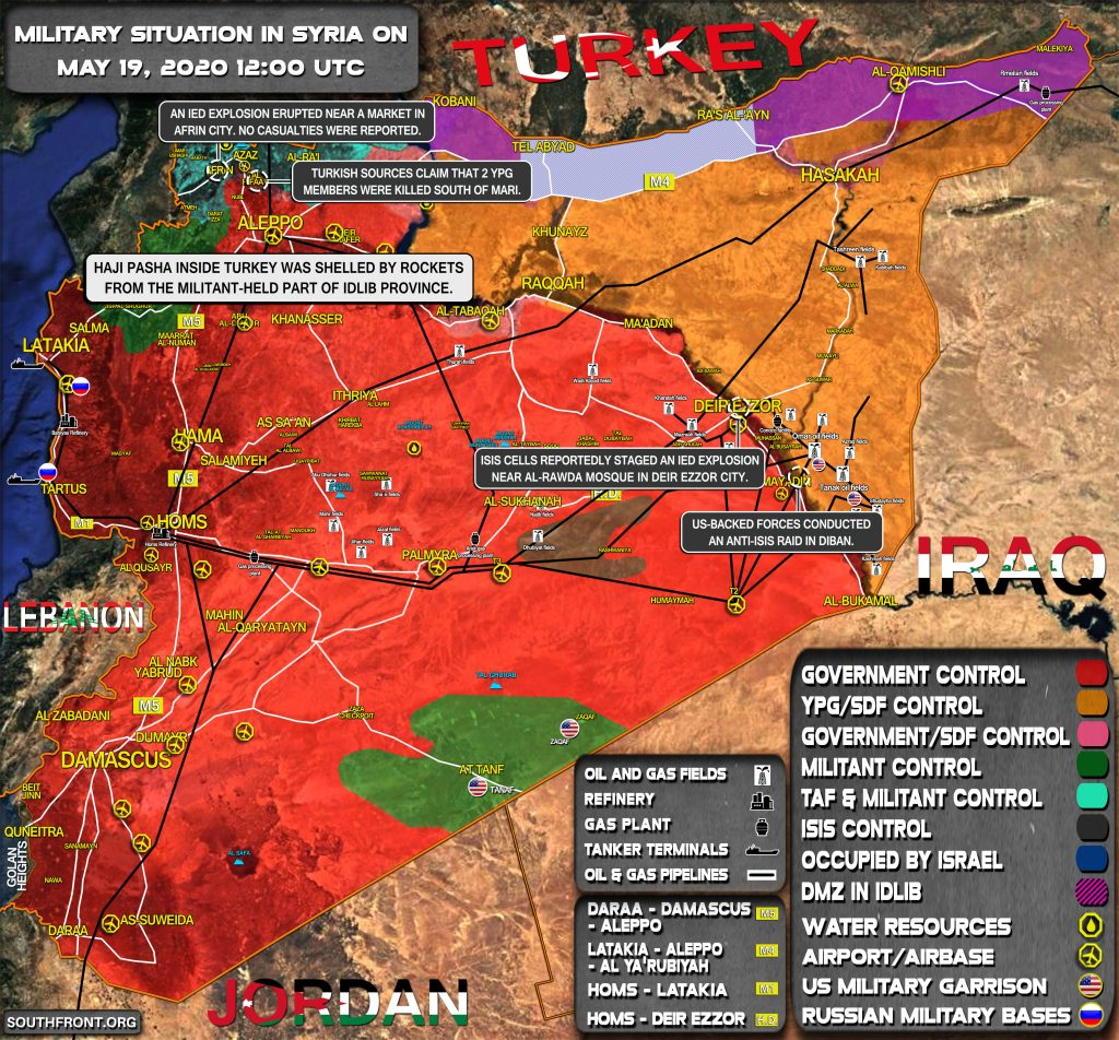 Military Situation In Syria On May 19, 2020 (Map Update)