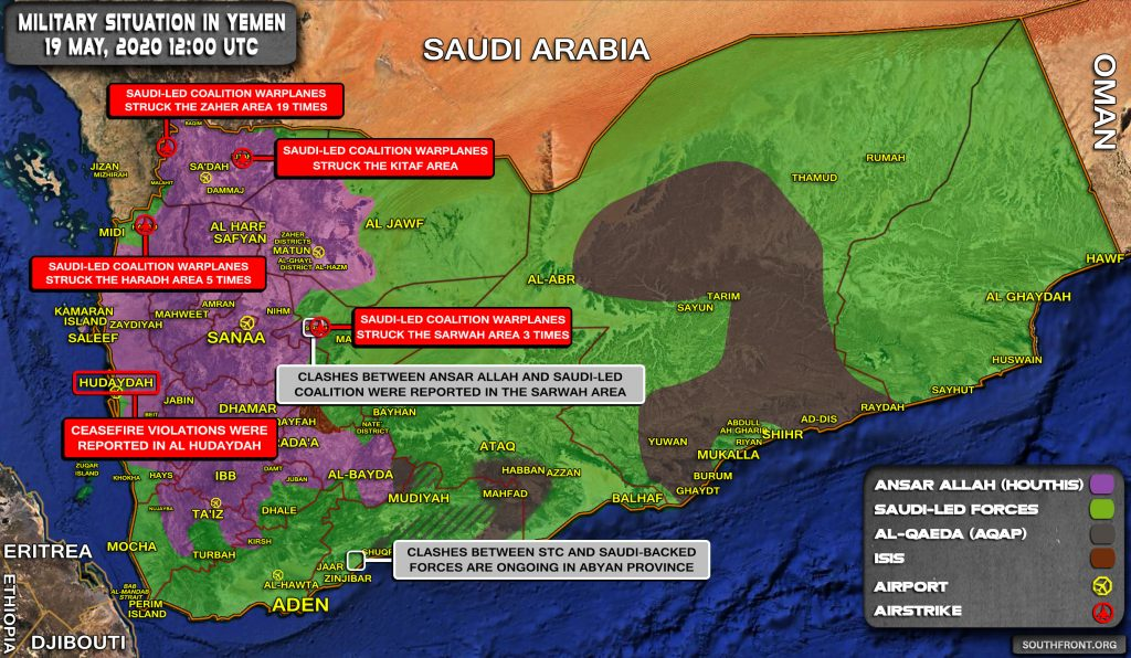 Military Situation In Yemen On May 19, 2020 (Map Update)