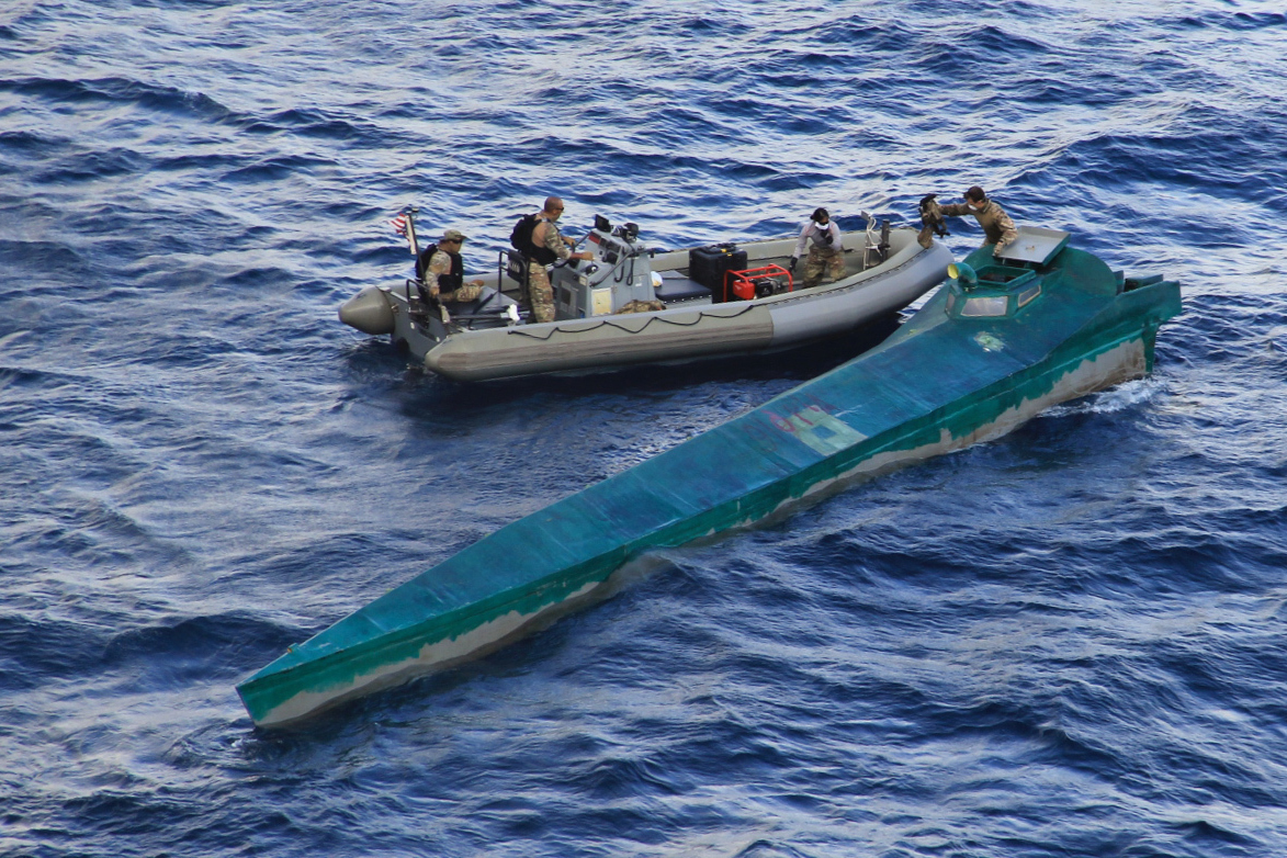"""U.S. Navy Seizes """"Low-Profile Vessel"""" With 1.5 Tons of Cocaine"""
