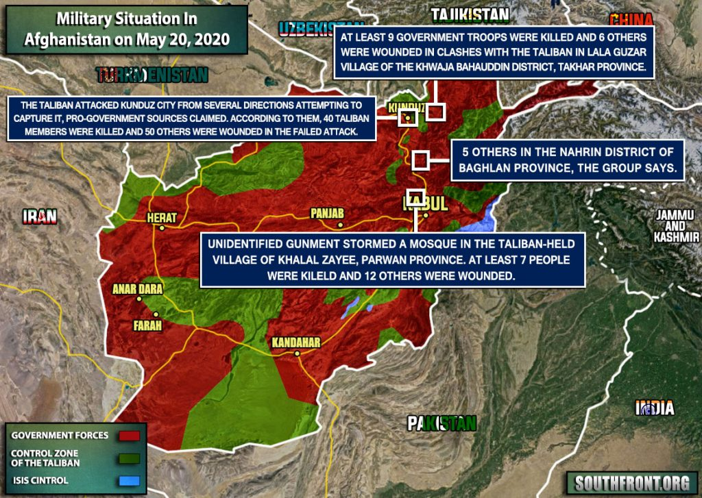 Military Situation In Afghanistan On May 20, 2020 (Map Update)