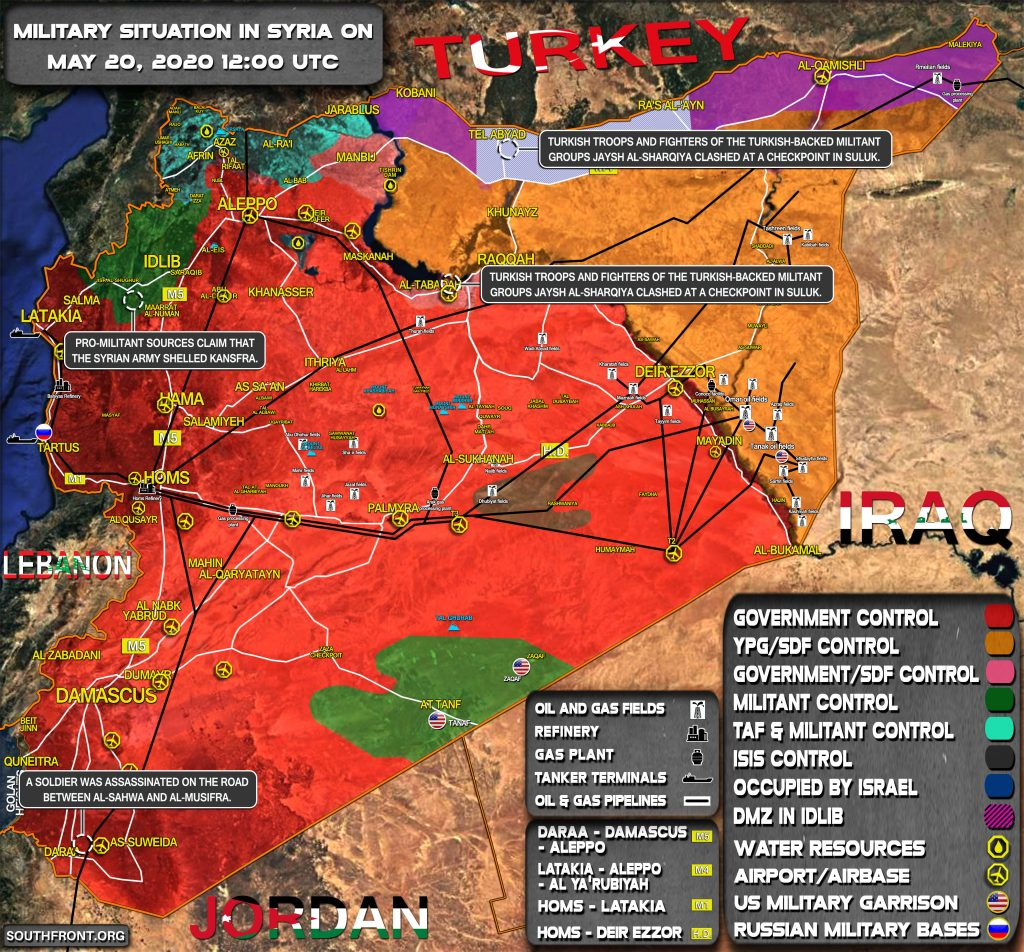 Military Situation In Syria On May 20, 2020 (Map Update)