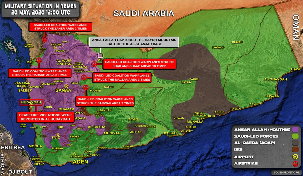 Military Situation In Yemen On May 20, 2020 (Map Update)