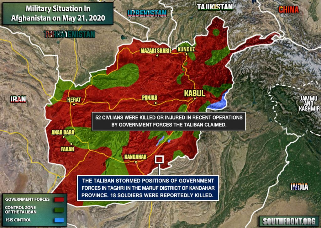 Military Situation In Afghanistan On May 21, 2020 (Map Update)