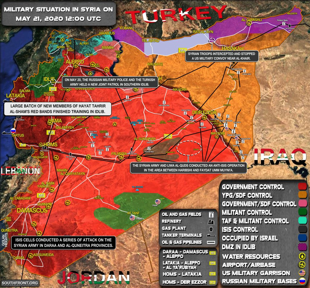 Military Situation In Syria On May 21, 2020 (Map Update)