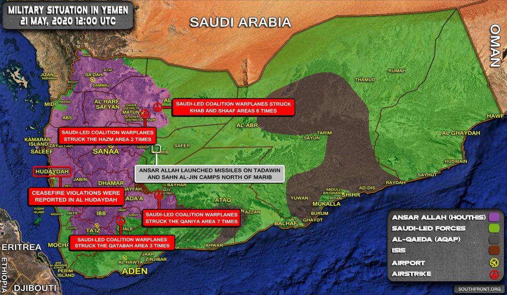 Military Situation In Yemen On May 21, 2020 (Map Update)
