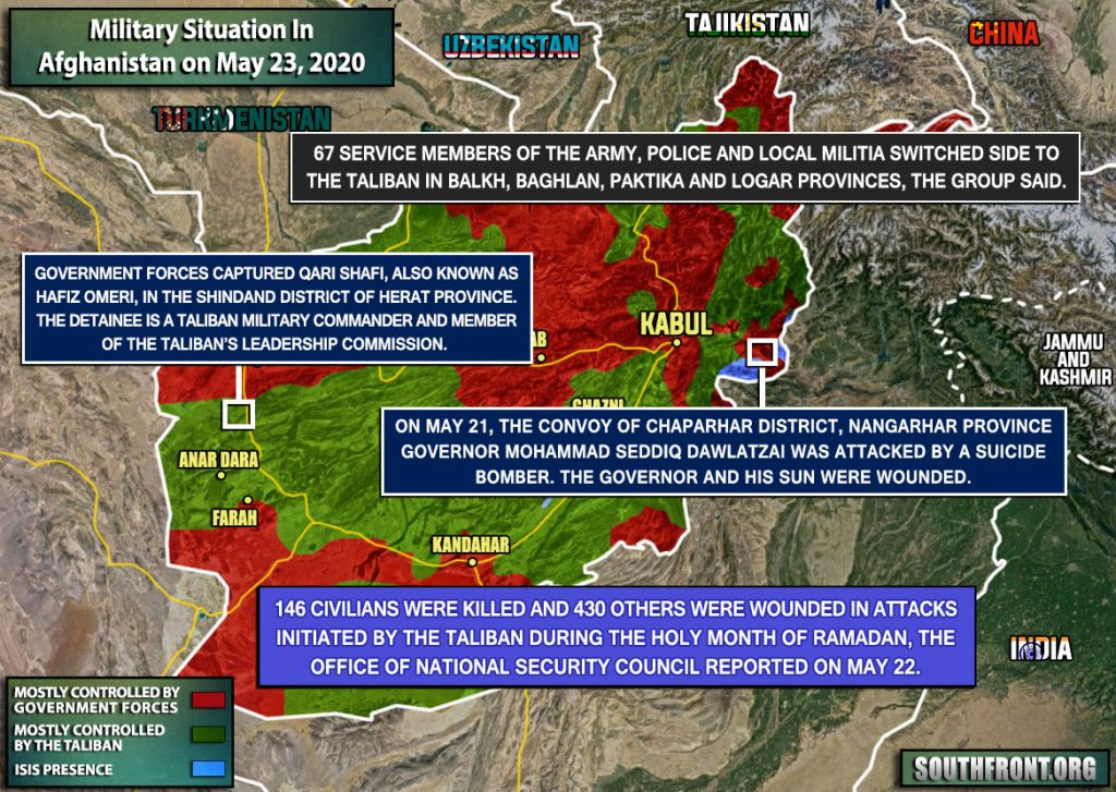 Military Situation In Afghanistan On May 23, 2020 (Map Update)