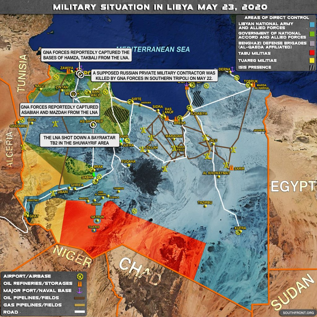 Military Situation In Libya On May 23, 2020 (Map Update)