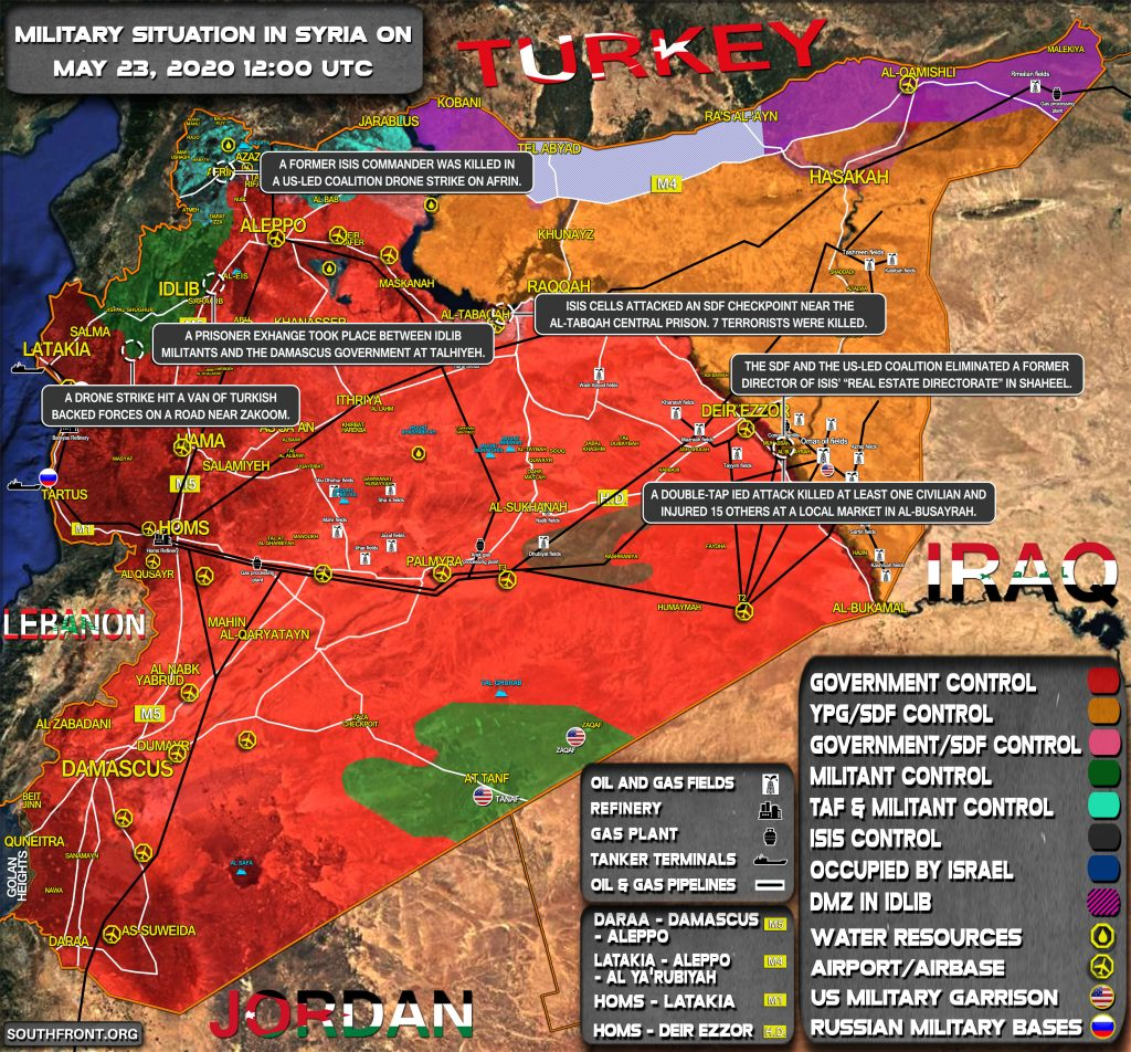 Military Situation In Syria On May 23, 2020 (Map Update)