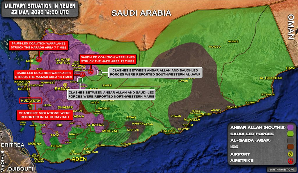 Military Situation In Yemen On May 23, 2020 (Map Update)
