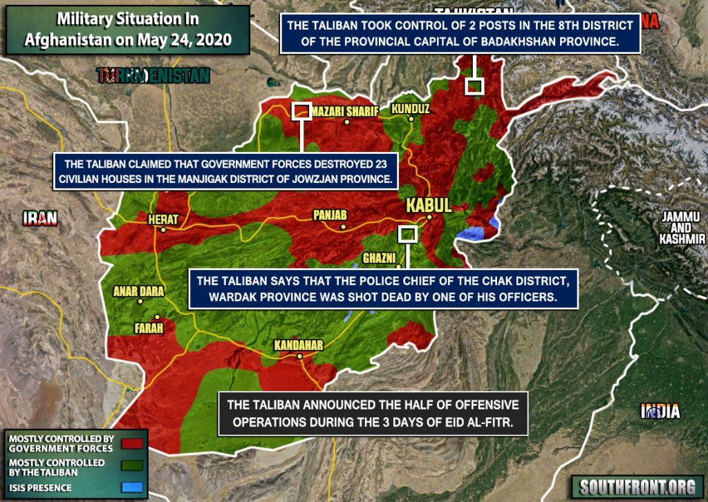 Military Situation In Afghanistan On May 24, 2020 (Map Update)