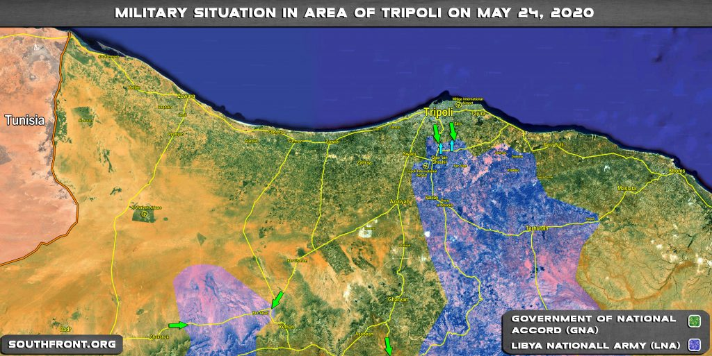 Military Situation In Area Of Tripoli On May 24, 2020 (Map Update)
