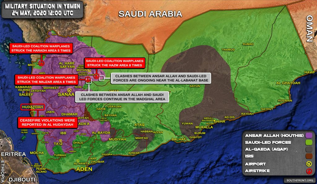 Military Situation In Yemen On May 24, 2020 (Map Update)