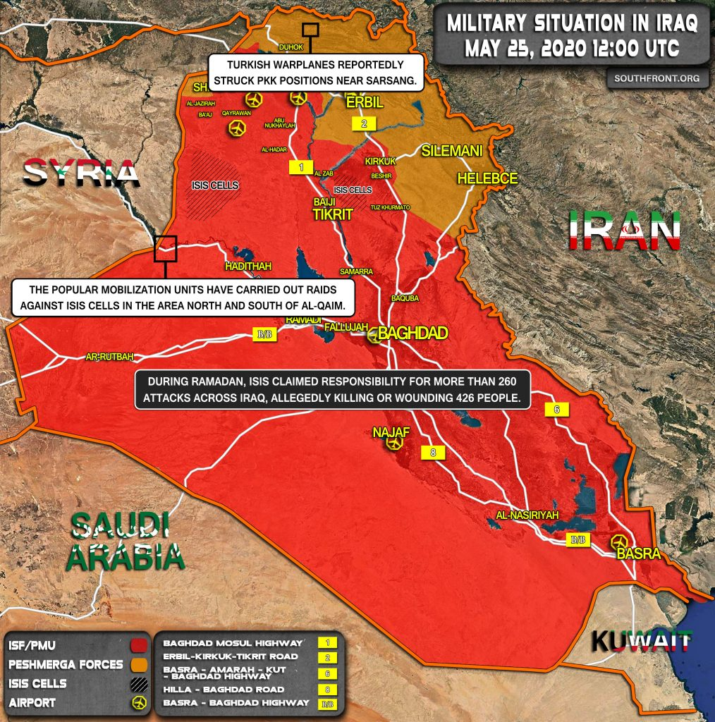 Military Situation In Iraq On May 25, 2020 (Map Update)