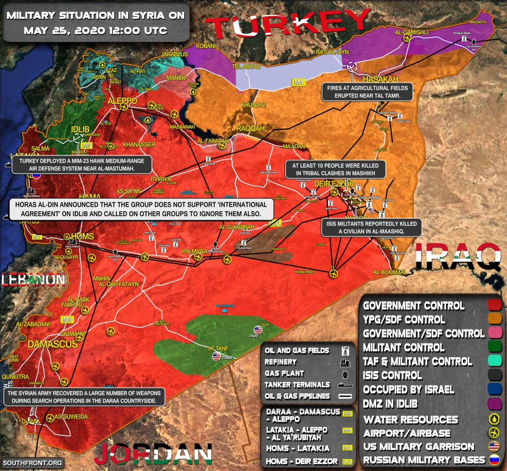 Military Situation In Syria On May 25, 2020 (Map Update)