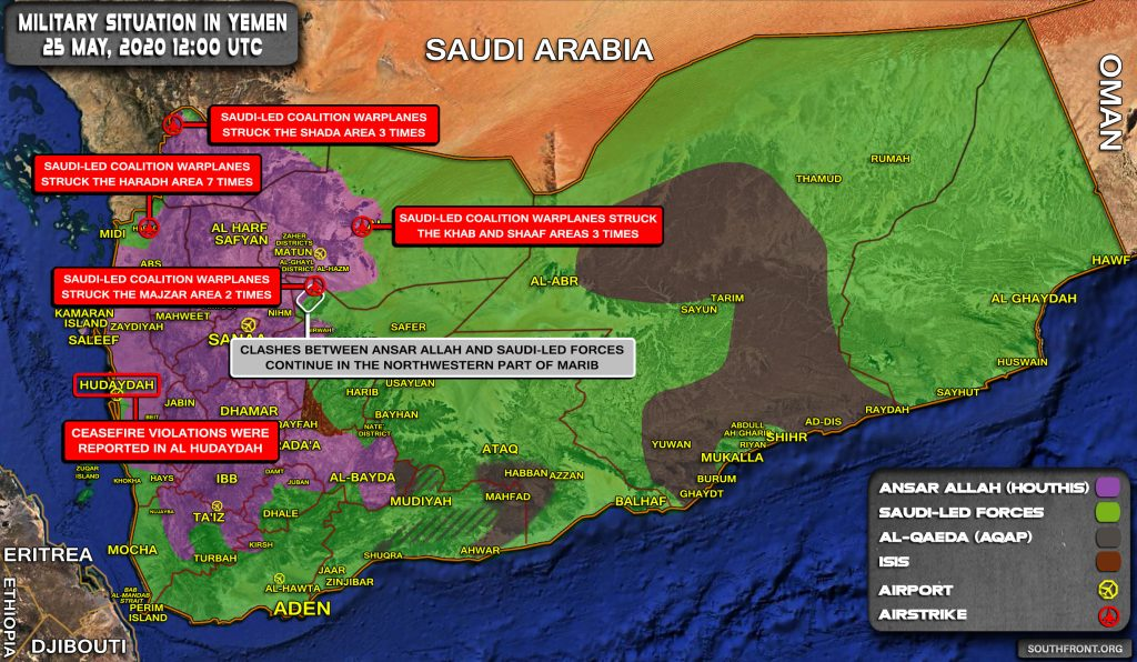 Military Situation In Yemen On May 25, 2020 (Map Update)