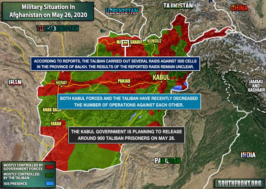 Military Situation In Afghanistan On May 26, 2020 (Map Update)