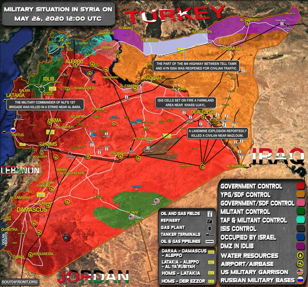 Military Situation In Syria On May 26, 2020 (Map Update)