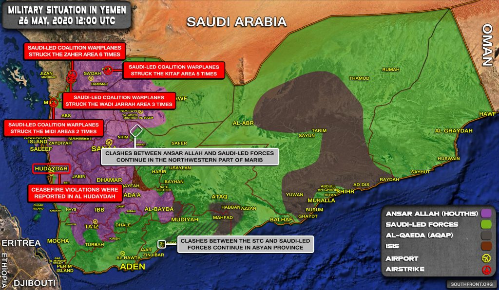 Military Situation In Yemen On May 26, 2020 (Map Update)