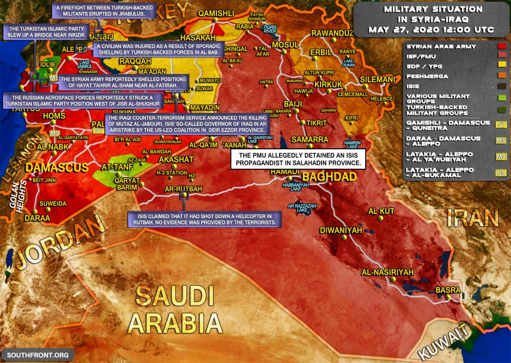 Military Situation In Syria And Iraq On May 27, 2020 (Map Update)