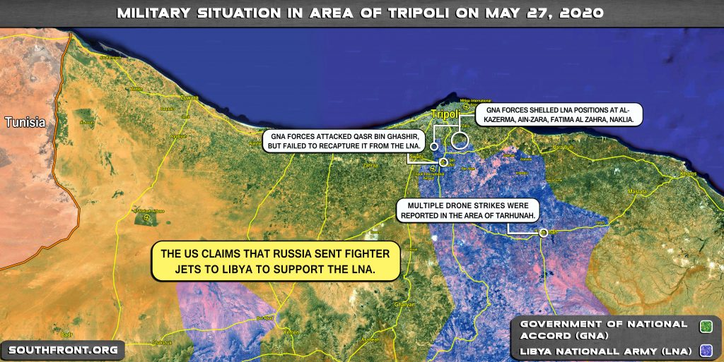 Military Situation In Area Of Libya's Tripoli On May 27, 2020 (Map Update)