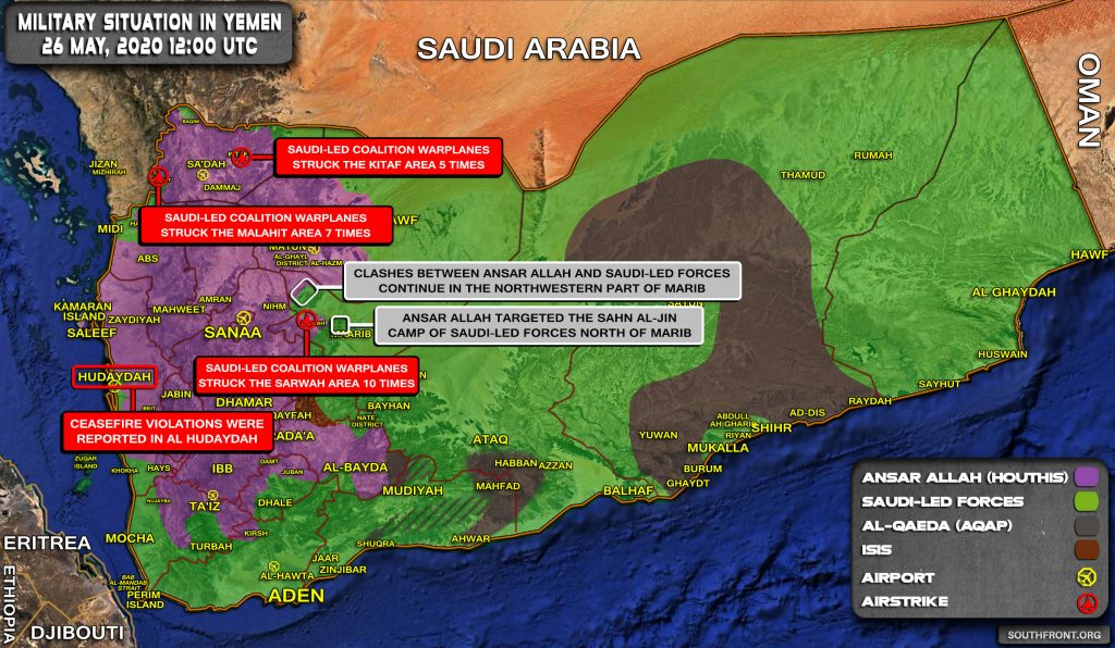 Military Situation In Yemen On May 27, 2020 (Map Update)