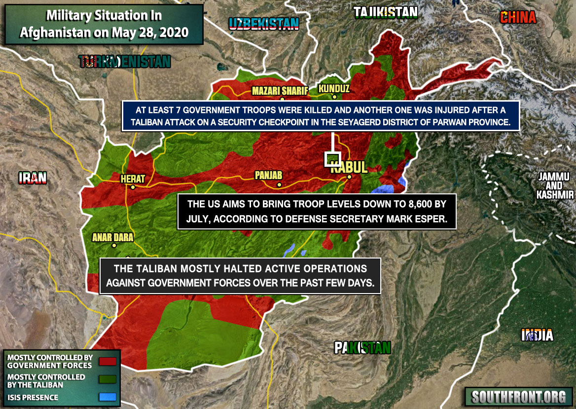 Military Situation In Afghanistan On May 27, 2020 (Map Update)